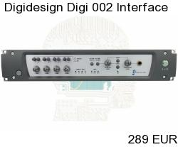 Digidesign Digi 002 FireWire Audio Interface 24bit 96kHz