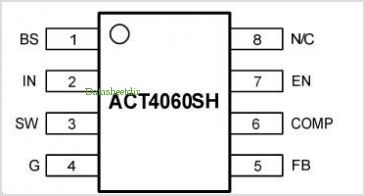 ACT4060SH Wide Input 4.75 to 20V 2A step down DC/DC converter